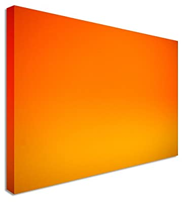 Large Abstract Painting Orange Love Canvas Wall Art Pictures 40x30 inches - cheap UK light shop.