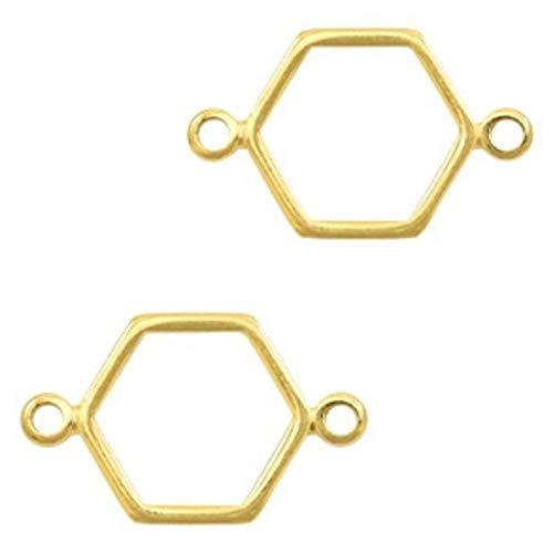 Sadingo DQ Lot de 2 Colliers à Bijoux en Forme de Losange 19 x 12 mm Or