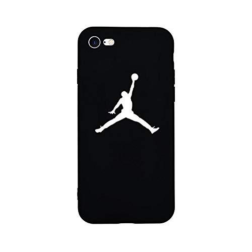 1 Stück New Fashion Sport Fun Jordan Air Jump Man Weiche TPU Silikon Schutzhülle für iPhone 6 6S Plus 8 8 Plus 7 7 7 Plus X 5 5S SE Handyhülle for 6Plus or 6sPlus TPU JORDN BLACK (Iphone 4 6 Air Hülle Jordan)