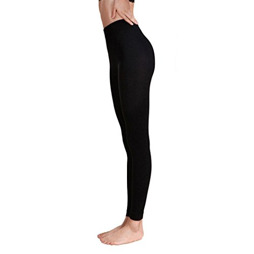 Pantalon de Sport ❤ Femmes leggings Fitness Yoga Pantalons athlétiques ❤ Pantalon Épissage Haute taille sport gym yoga Running fitness leggings pantalons athlétique pantalon Black