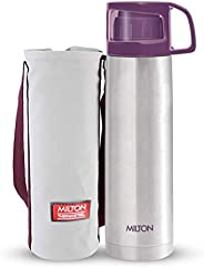 Milton Glassy Thermosteel 1000ml Vaccum Flasks - Purple