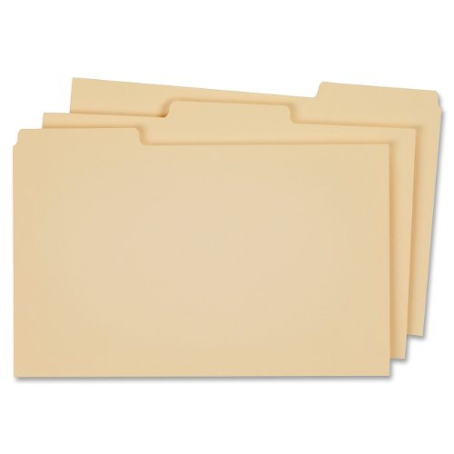 Globe Weis Letter-Size Blank Top Tab File Guides (9321M)