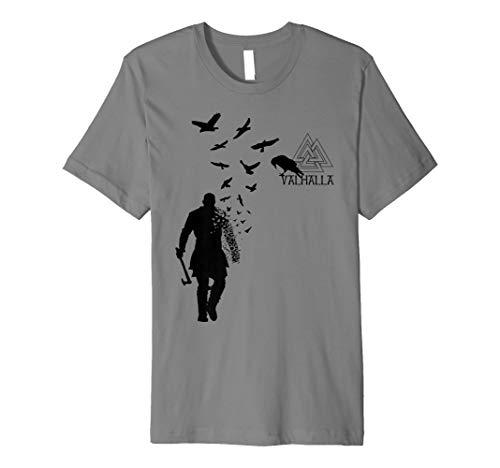 Xeire Viking Ragnar Lothbrok Valhalla Odin Ravens T-Shirt