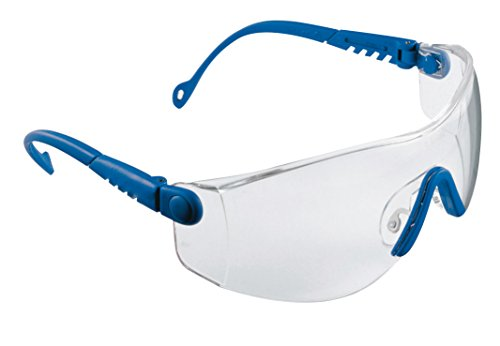 Honeywell 1000018 Op-Tema Safety Eyewear Frame with Clear Anti-Scratch Lens - Blue (Frame-schutzbrillen)