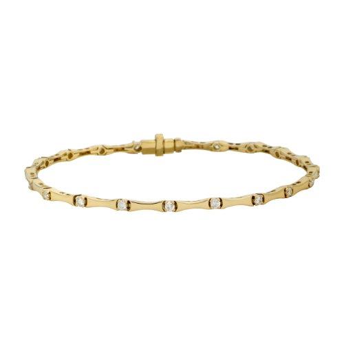 Miore Damen-Diamantarmband 18 Karat (750) Gelbgold mit 20 Brillanten weiß UJ146BY