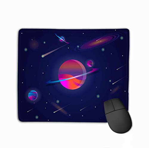 Mouse pad Vector Realistic Futuristic Space Background Bright Light Planets Stars Abstract Universe Big Planet Cosmos Banner neon d steelseries Keyboard