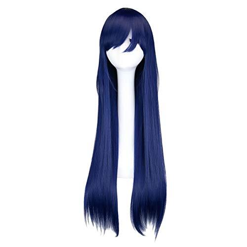 Naruto Hinata Cosplay Perücke Lang Blau für Damen (Y Naruto Hinata Halloween)