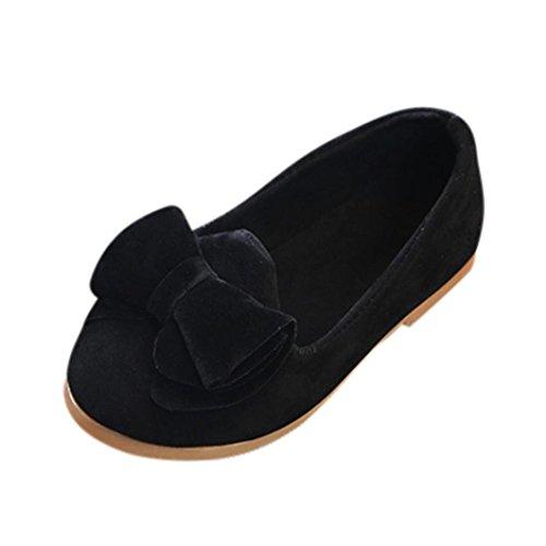 Somesun neonate sandali con fiocco sneaker bimbo principessa scarpe monoposto principessa estivi da bambino fondo morbido antiscivolo sportive per bambini moda romane spiaggia (21, black)