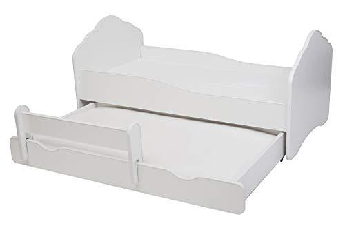 Cama doble para niños 'FALA II' Dimensiones 160 x 80 cm con colchón y barrera protectora