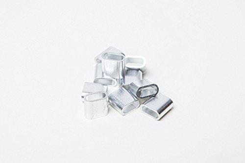 100x Aluminiumplombe Aluplombe silber Festival Festivalbändchen Ersatz Alu Öse Plombe - 100 Stück