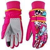 AliceHouse Kids Ski Gloves,Winter Warmest Waterproof and Breathable Snow Gloves for Boys Girls