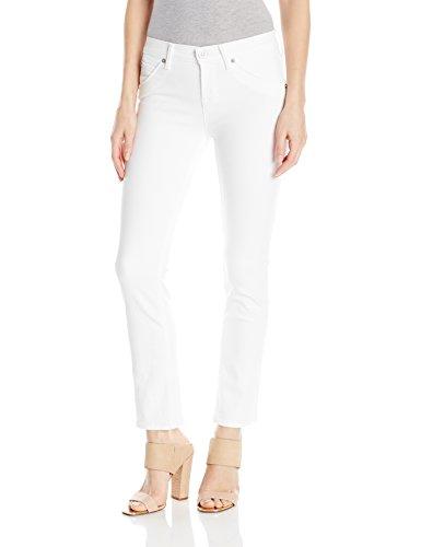 Hudson Jeans Women's Bailee Midrise Crop Baby Boot Flap Pocket Jean, White, 29 -