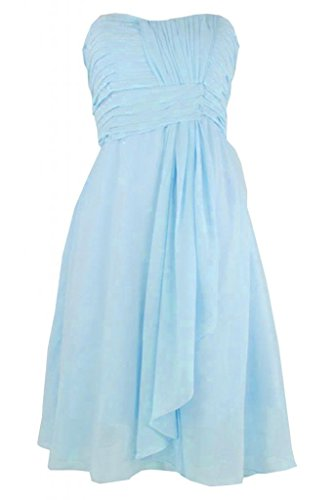 Sunvary Charming Homecoming Sweetheart Chiffon abito A-Line Abito da Cocktail, per feste Light Sky Blue