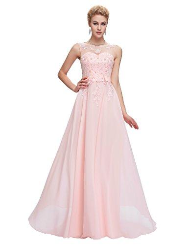 Vestidos Rosados Para Boda Para Fiesta De Vuelo Encaje Floral Maxi Talla 32