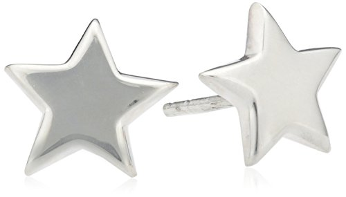 Tuscany Silver Sterling Silver Polished Star Stud Earrings 3CG4y