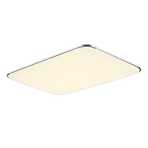 48W LED Deckenleuchte Warmweiß Modern Deckenlampe Ultraslim Schlafzimmer Küche Flur Wohnzimmer Lampe Wandleuchte Energie Sparen Licht Silber (48W Silber Warmweiß)