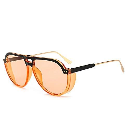 Personalisierte Sportaugen, Sonnenbrille mit UV-Schutz, Außenspiegel für den Strand, Sonnenblende, modische Sonnenbrille, runder Spiegel für Männer und Frauen - A5