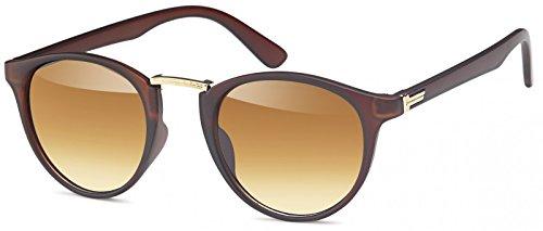 styleBREAKER Sonnenbrille mit runden ovalen Gläsern und Nasensteg aus Metall,...
