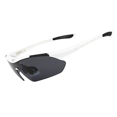 FELICIOO Outdoor Fishing Bike Mountainbike Sonnenbrille, Windschutzscheibe polarisiert (Farbe : White)