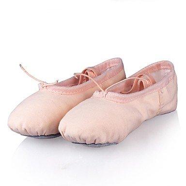 Performance Bailarinas De Rosa Outra Flat Sapatos Lona Calmas Calcanhar Rosa Prática Crianças Dança vdxBXR
