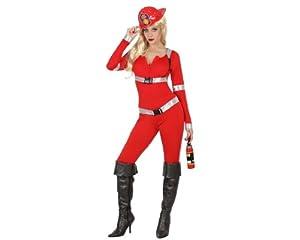 Atosa - Disfraz de bombero para niña, talla XS (22927)
