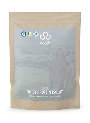 Whey Protein Isolat aus Molke. Iso Whey Protein aus irischer Weidehaltung. Post Workout Shake. - 1000 g (Eiweißpulver ohne Kohlenhydrate ohne Zucker Geschmacksneutral). -