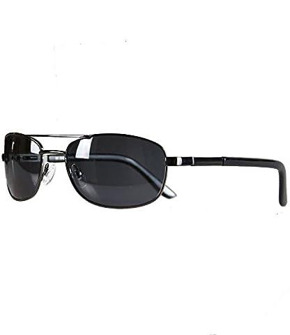 caripe sportliche Herren Sonnenbrille rechteckig getönt + verspiegelt - herso (One Size, polarisiert - pol1-2000)