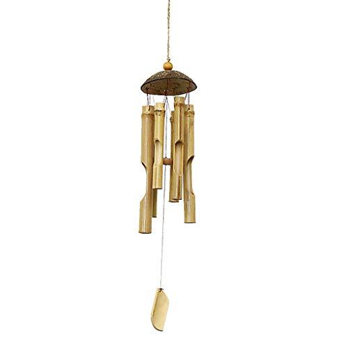 Kreative Retro Bambusrohr Windspiele Hängen Handgemachtes Haus Schlafzimmer Balkon Anhänger Hotel Air Wind Glockenspiel (Größe : 12 * 79cm)