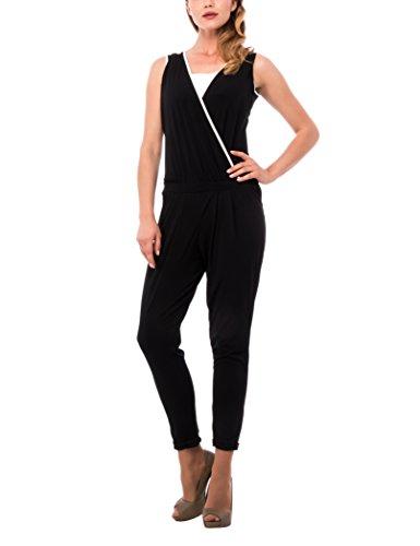Les Sophistiquees Jumpsuite Bicolor, Vestido para Mujer, Negro, L
