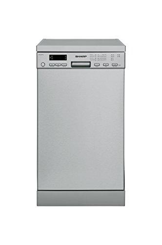 SHARP QW-S22F472…-DE Geschirrspüler Freistehend / A++ / 45 cm / 10 MGD / 8 Programme / Intelliwash / Microban Filter / AquaStop