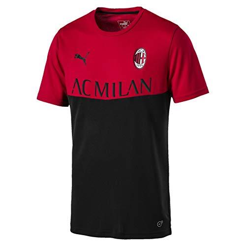 PUMA AC Milan Herren Fan Poly T-Shirt Tango Red-Puma Black L