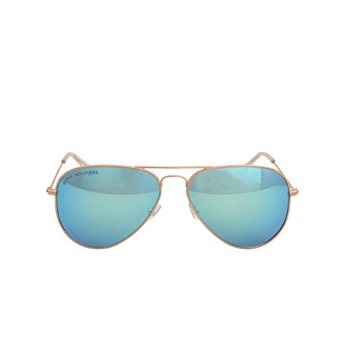 Alpha Industries Top Gun Sunglasses, color frame/shades:gold/blue