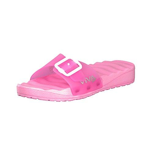 BRANDSSELLER Sandales de bain Femme Chaussures de bain avec boucles Couleurs: Gris, Rose - Pointures 36-41 Rose