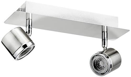 Eglo 93694 E Led-Balkenleuchte Modell Pierino /2, nickel matt / chrom
