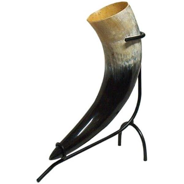 f/ür Wikinger-Met Gr/ö/ße 150 ml Battle-Merchant Trinkhorn aus echtem Horn 0,1 bis 1 Liter