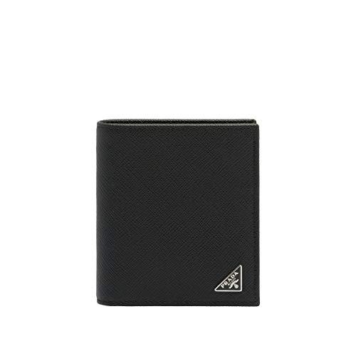 Prada luxury fashion uomo 2mo004qhhf0002 nero portafoglio | stagione permanente