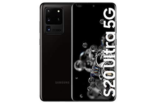Samsung Galaxy S20 Ultra 5G - Smartphone 6.9' Dynamic AMOLED (12GB RAM, 128GB ROM, cámara 108MP gran angular, Octa-core Exynos 990, 5000mAh batería, carga ultra rápida) Cosmic Black [Versión española]