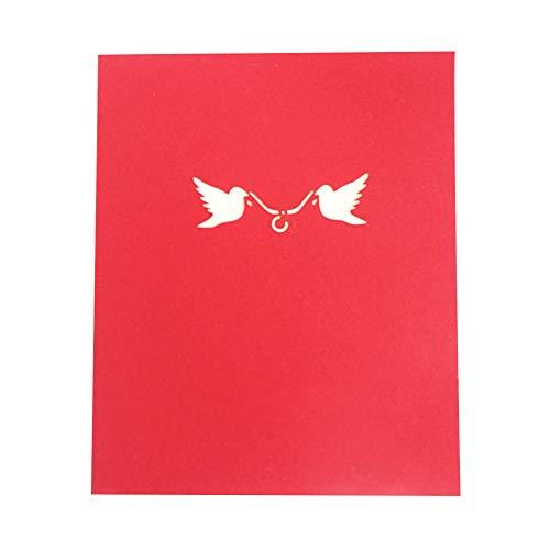 Nozze biglietti d'auguri 3d coppia amorosa regalo pop up carte fatte a mano per il matrimonio anniversari san valentino