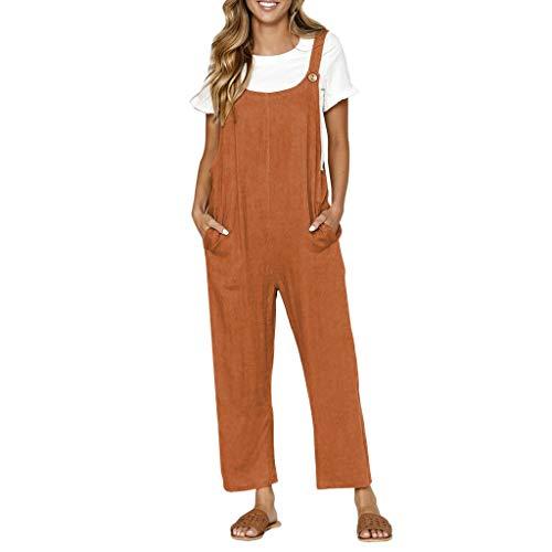 f3061825908 STRIR Mujer Petos Casual Pantalones Holgados Pierna