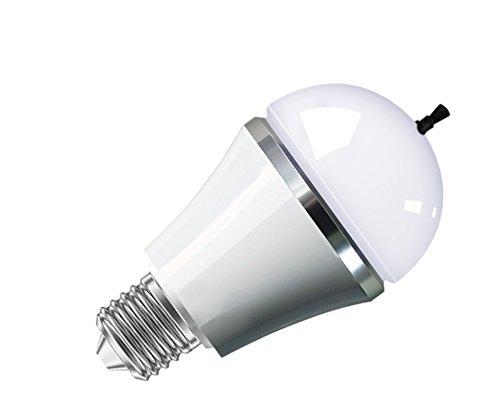 LOOMIC Luftreiniger reduziert Rauch, Staub, Pollen, Keime, Pilzsporen mit LED Birne 5W E27 Warmweiß Ionisator Raucherbirne