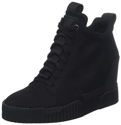 g star schuhe damen G-STAR RAW Damen Rackam Core Wedge Hohe Sneaker, Schwarz (Black 990), 40 EU