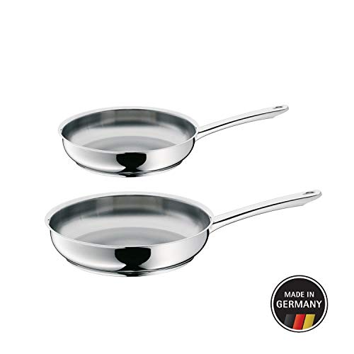 WMF Profi - Set de 2 sartenes 24 - 28 cm,  cromargan acero inoxidable para todo tipo de cocinas incluida...