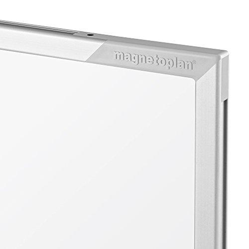 magnetoplan 1240489 Whiteboard mit Fahrgestell, speziallackierte Oberfläche, komplett mit Ablageschale für Marker und Zubehör, 1200 x 900 mm -