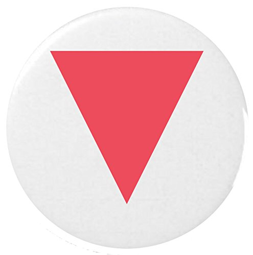 Down-Pointing Red Triangle Emoji 25mm Button Badge