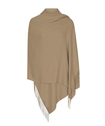 Pilz Braun Hergestellt in Italien (37 Schöne Farben Erhältlich) Pashmina Schal Stola Umschlagtücher Tuch für Damen - Super Weich - Exklusiv von Pashminas & Wraps aus London -