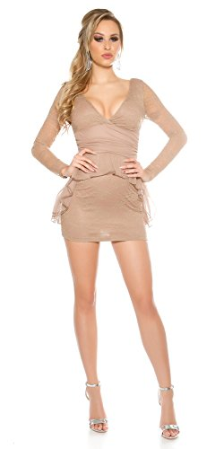 In-Stylefashion - Robe - Femme Marron Marron Marron - Cappuccino