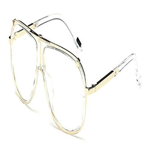 Yangjing-hl Retro Männer Quadrat Sonnenbrille Frauen Verlaufsglas Gläser UV400