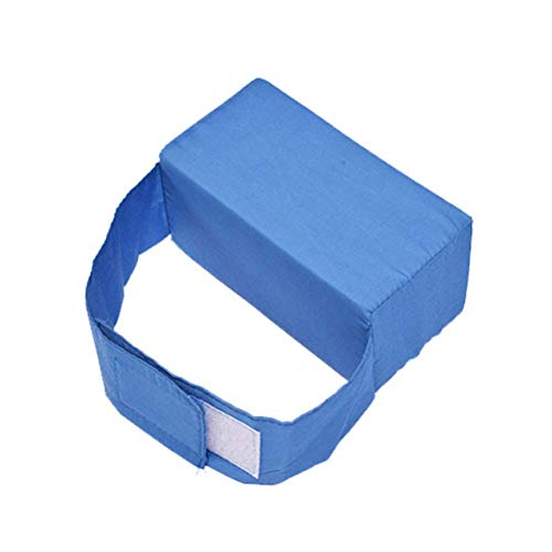 Healifty Kniebeinkissen Orthopädisches Beinkissen mit Klettverschluss gegen Ischiasschmerzen Beinschmerzen Hüftschmerzen (Blau)