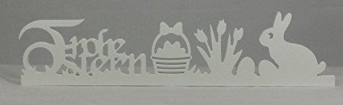 ern mit Korb/Tulpen/Osterhase in weiß - frei stellbar ()
