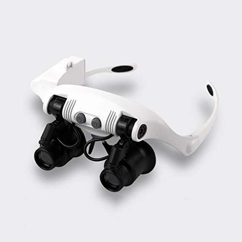 10x 15x 20x 25x Sonnenbrille Mit 2 Lichter LED Lupe Uhrmacher Juwelier Lupe Reparatur